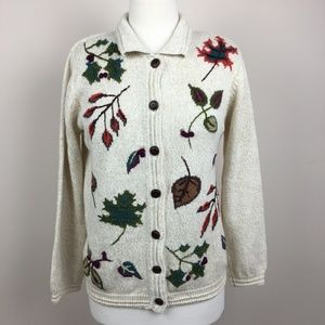 vintage fall autumn button-up cardigan sweater